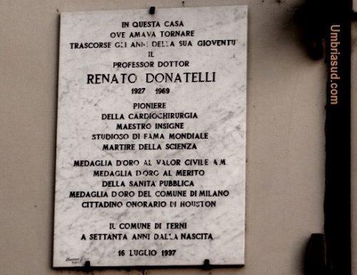 Renato Donatelli, a ricordarlo una lapide e un liceo
