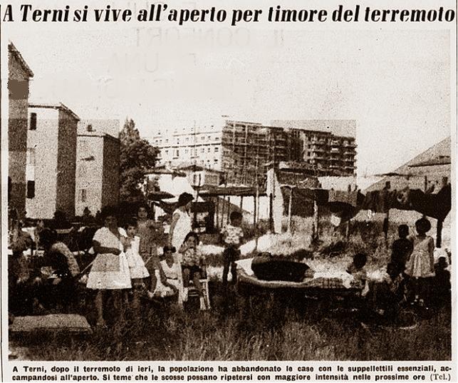 Terremoto a Terni si vive nelle tende