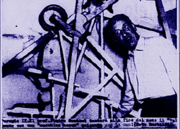 Aereo pedali inventore guaitini