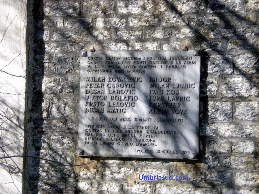 Slavi partigiani brigata gramsci forca di cerro