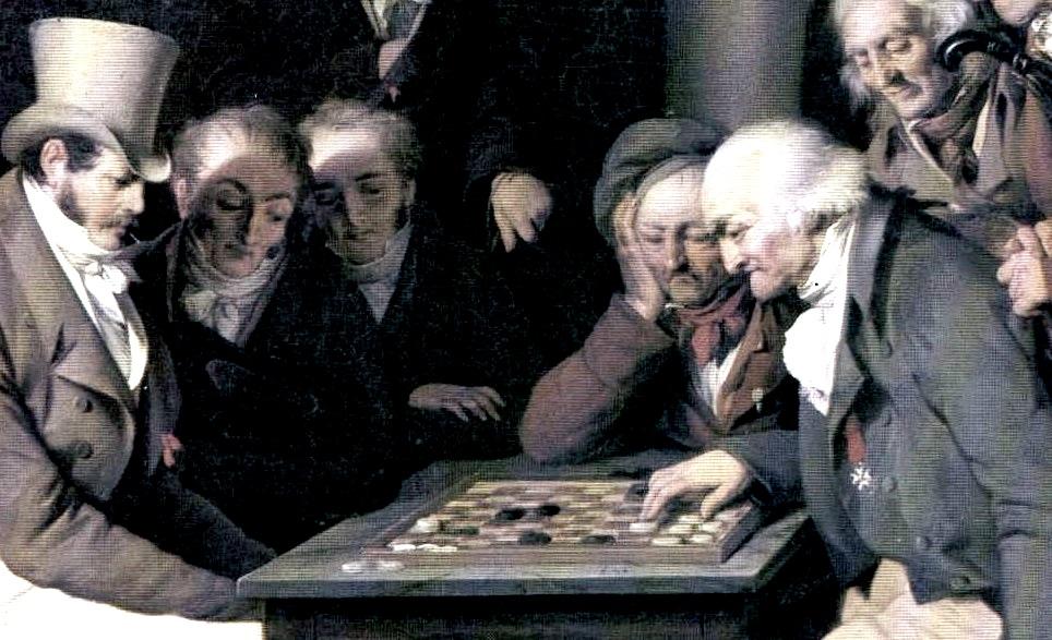 Quadro di Boilly giocatori di dama