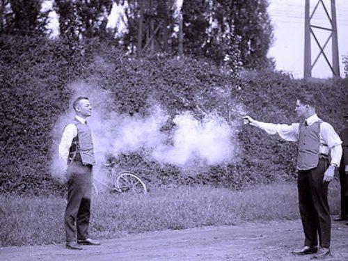 Doppio duello alla pistola per il fascista Misuri