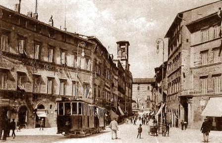 perugia corso vannucci all'inizio del XX secolo