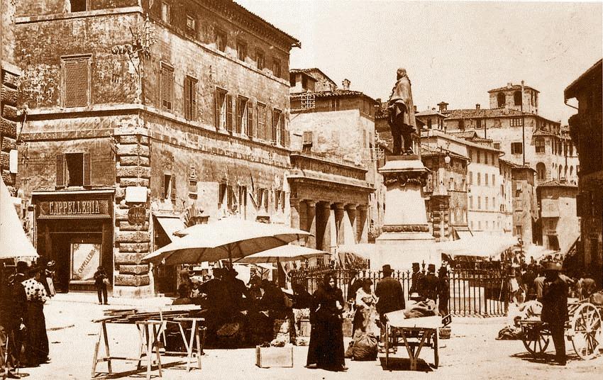 Antica sede della Biblioteca Augusta a Palazzo Meniconi a Perugia,. (Foto arch. Biblioteca Augusta)