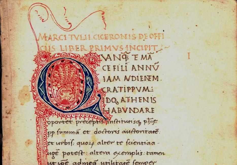 Codice miniato Cicerone