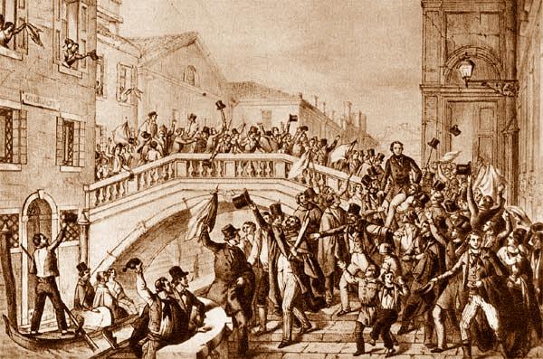 La liberazione del Veneto, campo di battaglia di Pianciani nella guerra d'Indipendenza del 1848