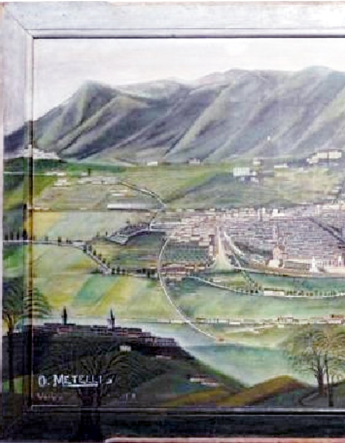 Orneore Metelli, Veduta di Terni (part.)
