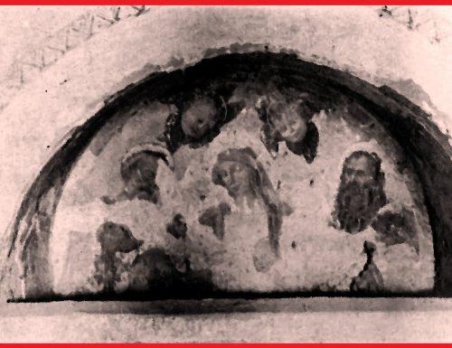 1913, in una casa di campagna affresco della scuola del Pinturicchio