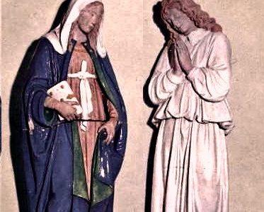 Due statue del Quattrocento scoperte a Norcia nel 1908