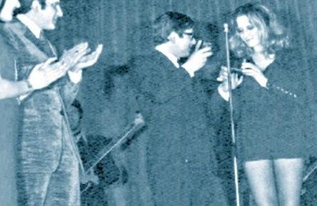 1970, S.Valentino d'oro a Mina per la prima volta in ultra-mini