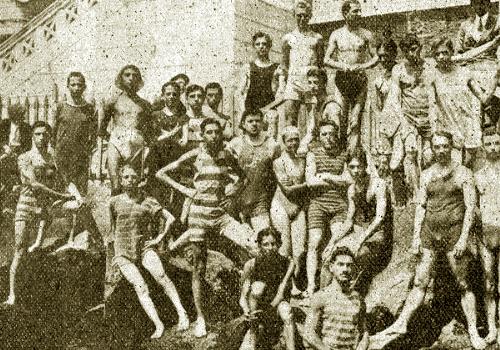 1897, scandalo a Foligno: ragazzi fanno il bagno quasi nudi a Ponte S.Magno
