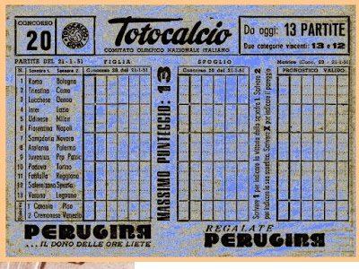 1957, signora narnese vince 30 milioni al Totocalcio