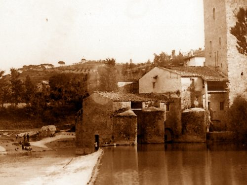 1910: a Pretola giovane muore travolto dalle pale del mulino, mentre si bagna nel Tevere