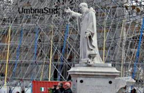 1880, a Norcia inaugurazione della statua di San Benedetto
