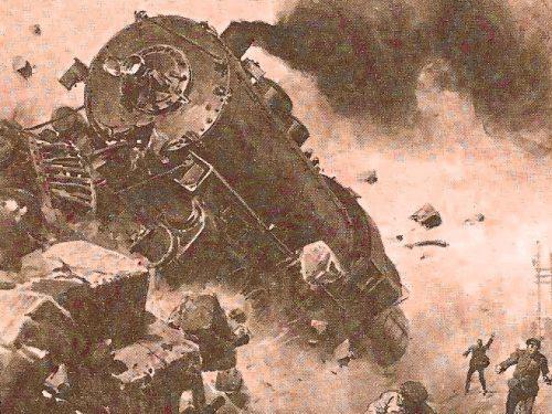 1908, scontro tra due treni a Nera Montoro. Feriti cinque ferrovieri